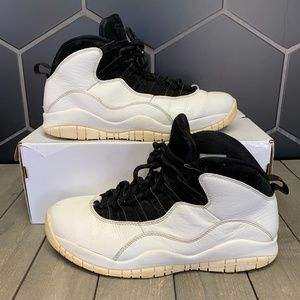 Used Air Jordan 10 White I'm Back Sneakers Size 12